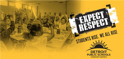 DPSCD Expect respect students rise we all rise logo