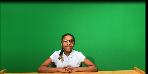 green screen student