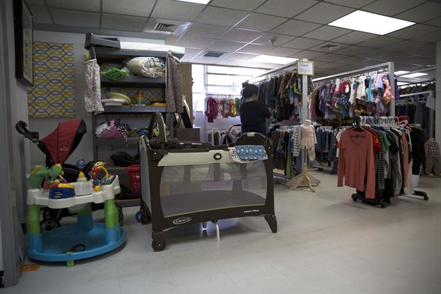 picture of clothes and baby toys at a retail  store
