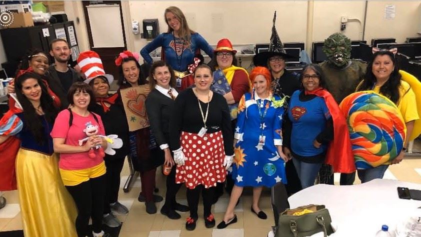 clippert teachers in costumes