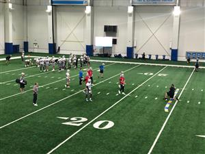 The Detroit Lions practicing