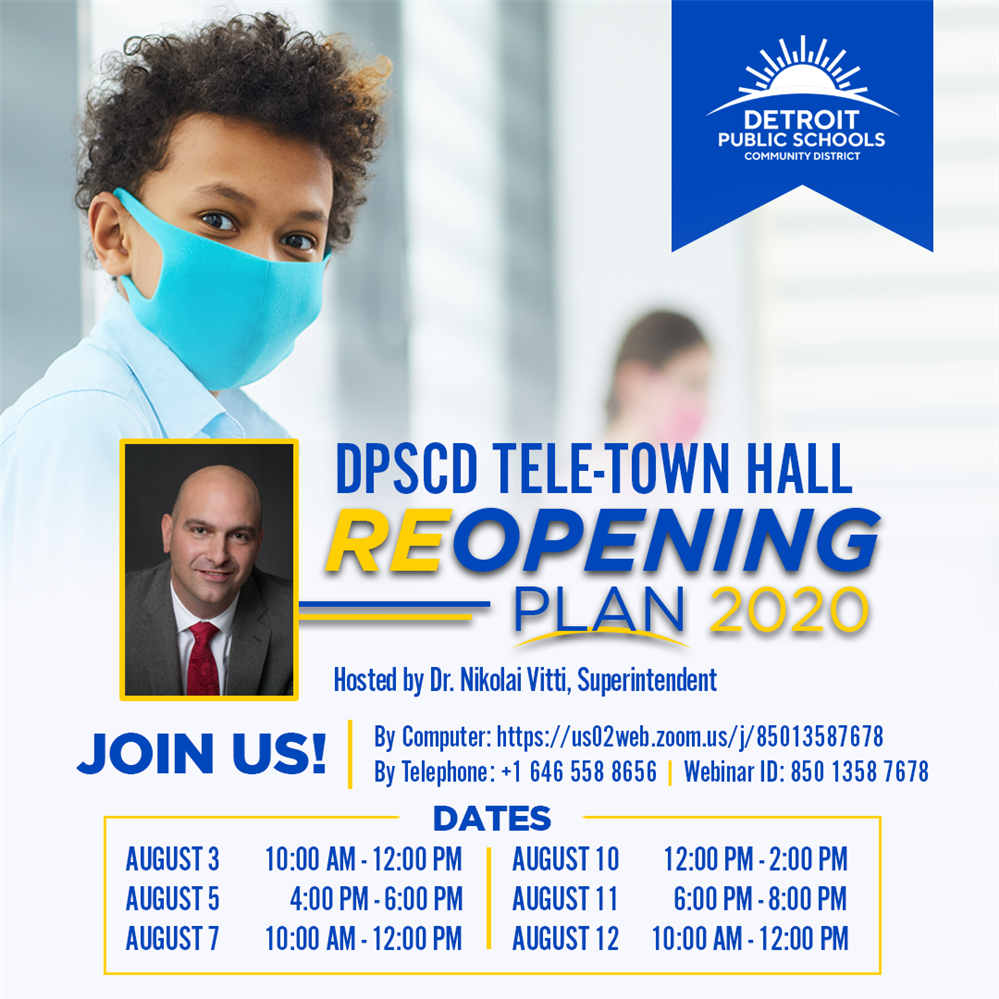 Reopening Plan Tele-Town Hall Meetings