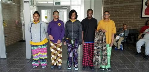 Mrs. Whitted's Sewing Class Made Pajama Pants