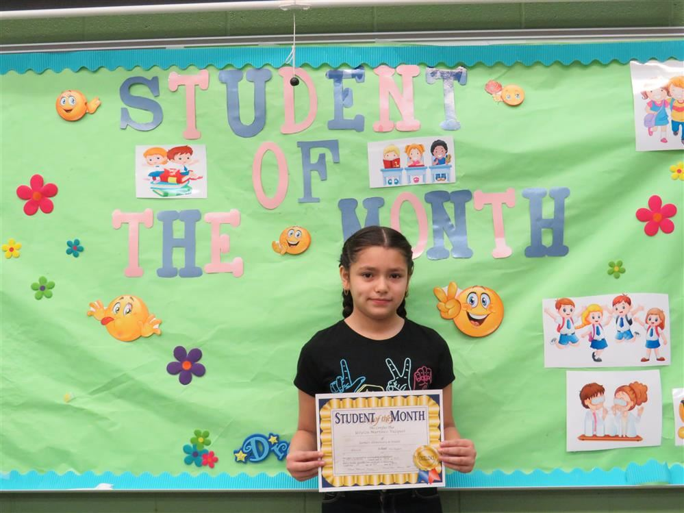 April Student of the Month Celebration