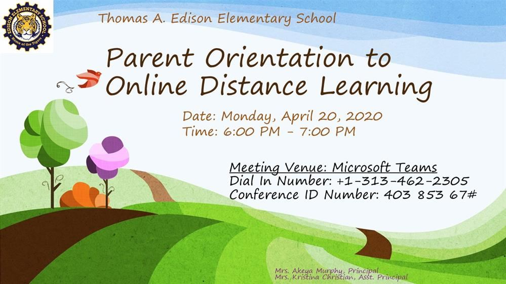Parents Orientation - Distance Learning