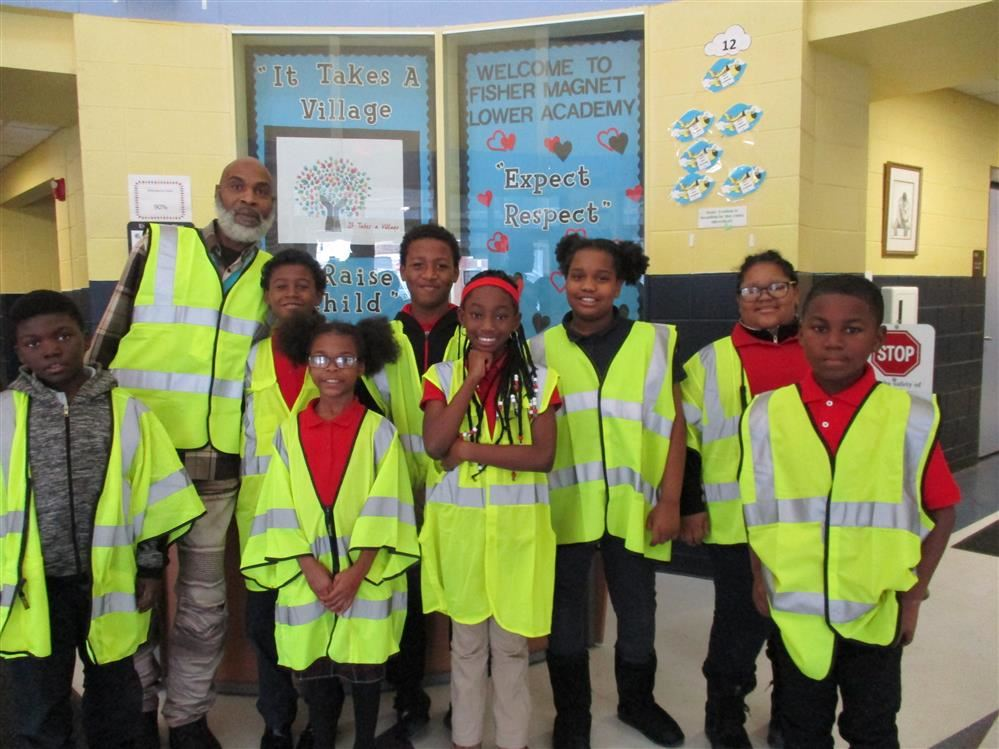 Safety patrols students at Fisher Lower