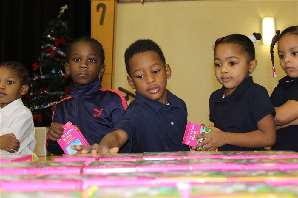 Students were selecting a free gift.