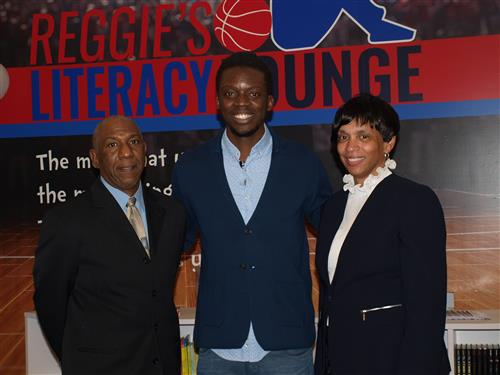 Mr. Tims, Reggie Jackson, and Mrs. Stokes