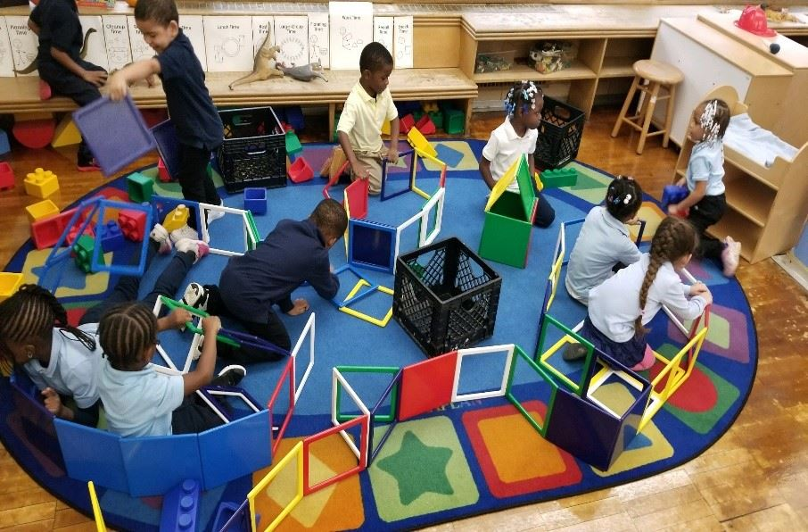 Pre-K Student's Playing during Class.
