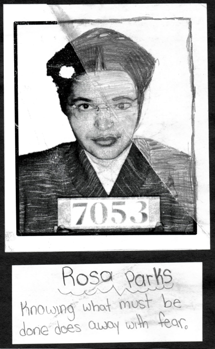 student artwork of Rosa Parks