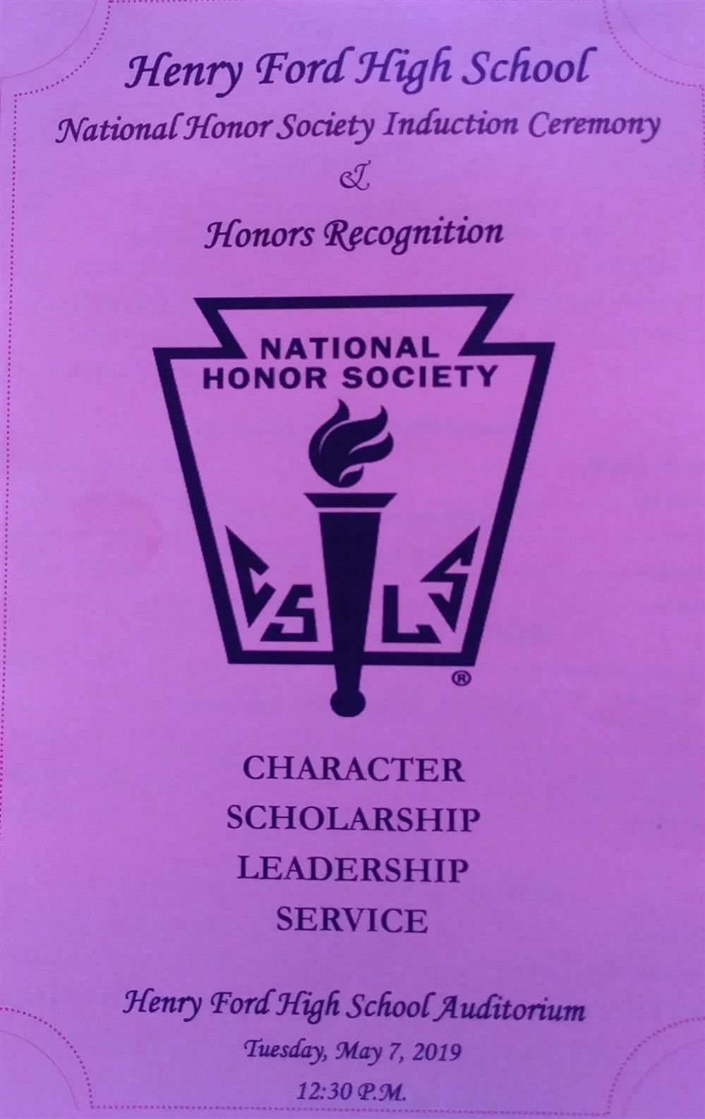 National Honor Society Induction Ceremony 2019