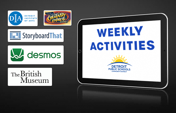 Picture of weekly activities logos